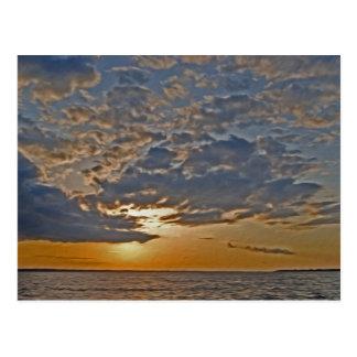 Sunset on the Rappahanock River Postcard
