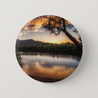 Sunset on the River 6 Cm Round Badge