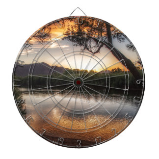 Sunset on the River Dartboard