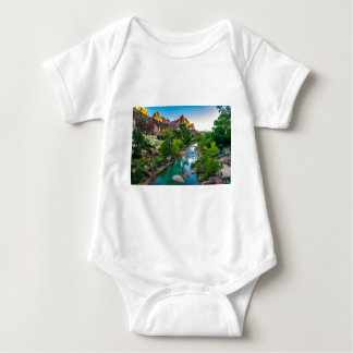 Sunset on the River in Zion, Utah Baby Bodysuit