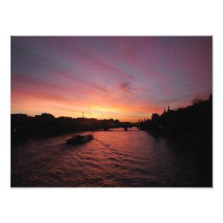 Sunset on the River Seine Photo Print
