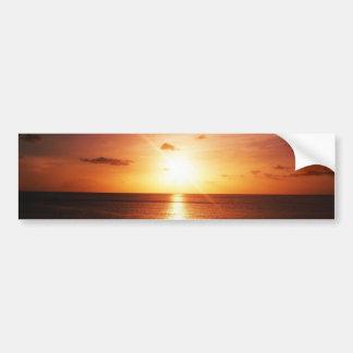 Sunset On The Sea Bumper Sticker