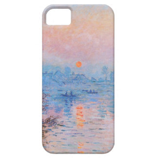 Sunset on the Seine at Lavacourt(Winter Effect) iPhone 5 Covers