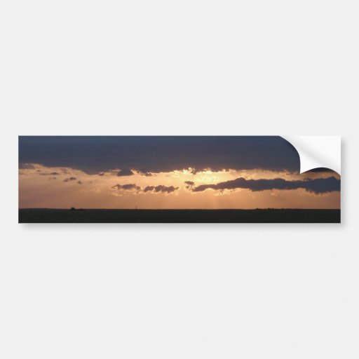 Sunset On The Steppes Bumper Stickers