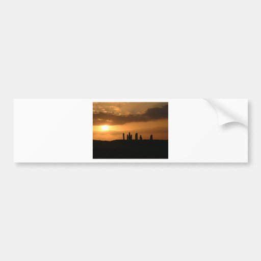 Sunset on the Stones Bumper Stickers