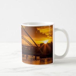 Sunset on the Tyne Basic White Mug