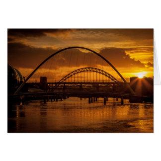 Sunset on the Tyne Card