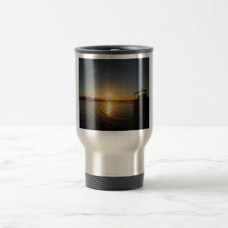 Sunset on the water mug