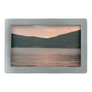 Sunset On The Water Rectangular Belt Buckle