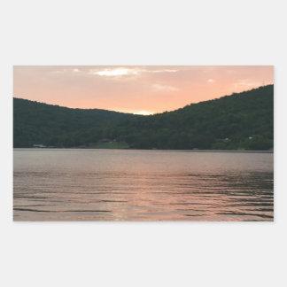 Sunset On The Water Rectangular Sticker
