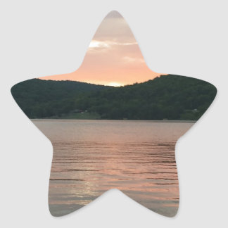 Sunset On The Water Star Sticker