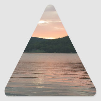Sunset On The Water Triangle Sticker