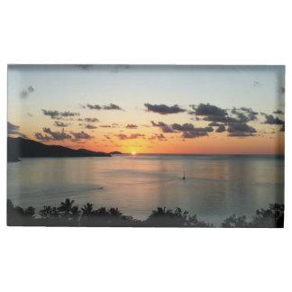 Sunset on the Whitsunday Islands Table Card Holder