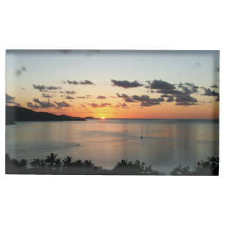Sunset on the Whitsunday Islands Table Card Holders