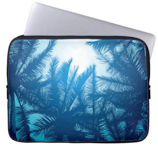 Sunset on tropical island laptop computer sleeve