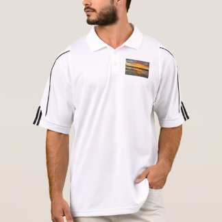 Sunset on water polo shirt