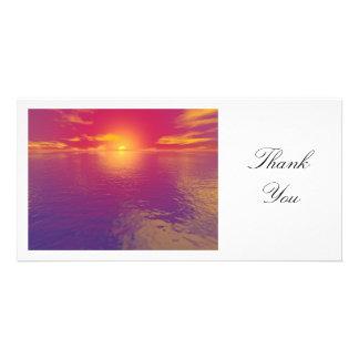 Sunset or Sunrise - Thank You Customized Photo Card