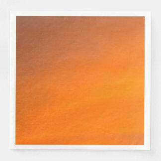 Sunset Orange Abstract Art Paper Dinner Napkins Disposable Serviettes