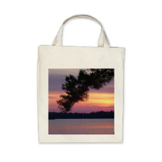 Sunset Organic Grocery Store Tote Tote Bag