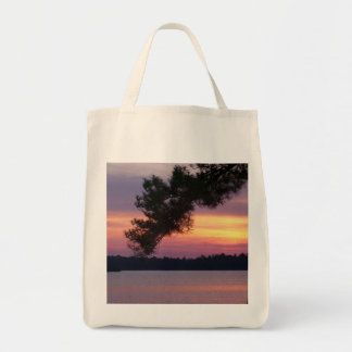 Sunset Organic Grocery Store Tote Grocery Tote Bag