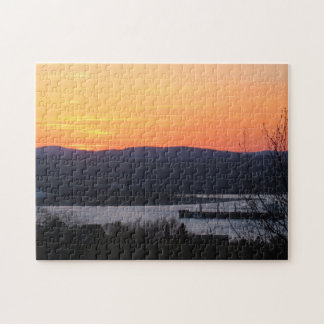 Sunset Over A Canadian Landscape Puzzle