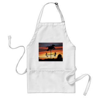 Sunset Over a Cow Weather Vane Adult Apron
