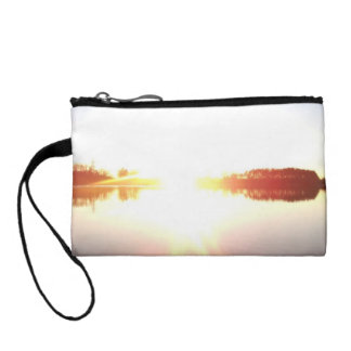 Sunset over a lake coin purse