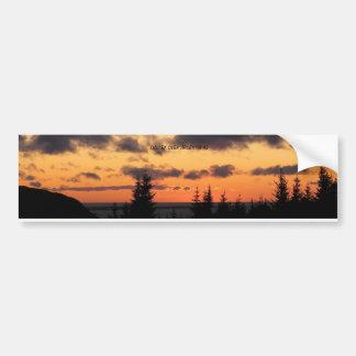 SUNSET OVER ARGENTIA NL BUMPER STICKER