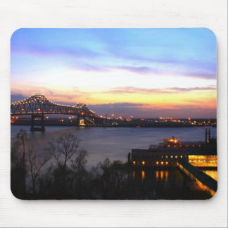 Sunset over Baton Rouge Mouse Pad