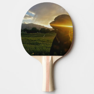 Sunset over Boulder Colorado Ping Pong Paddle