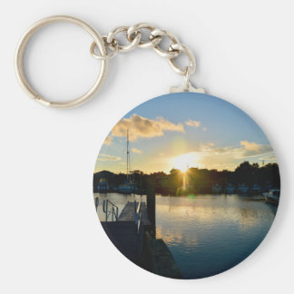 Sunset over Cape Cod Key Ring