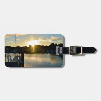 Sunset over Cape Cod Luggage Tag