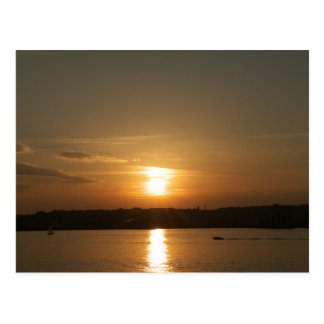 Sunset over Cardiff Bay Postcard