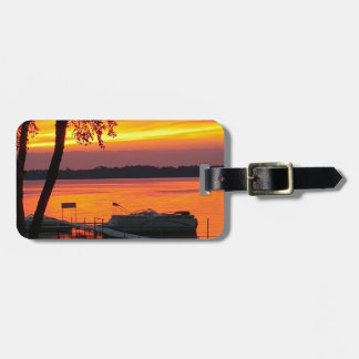 Sunset over Castlerock Lake Luggage Tag
