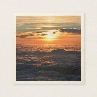 Sunset Over Clouds Disposable Serviettes