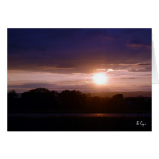 Sunset over Connecticut, S Cyr Card