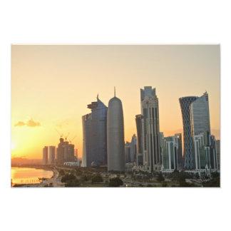 Sunset over Doha, Qatar Photo Print