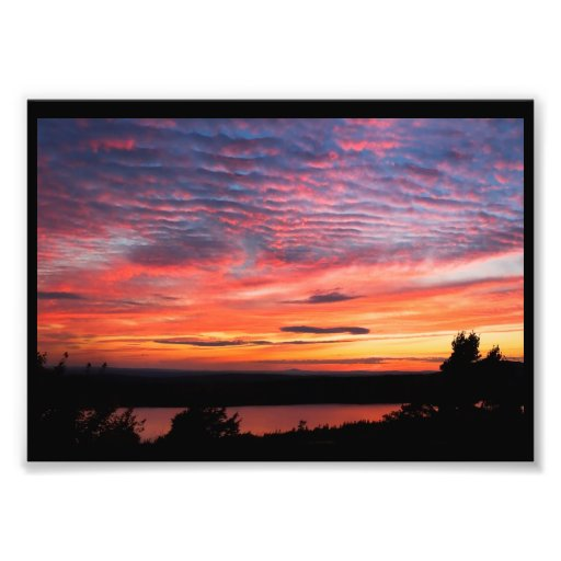 Sunset over Eagle Lake Acadia National Park Photo Print