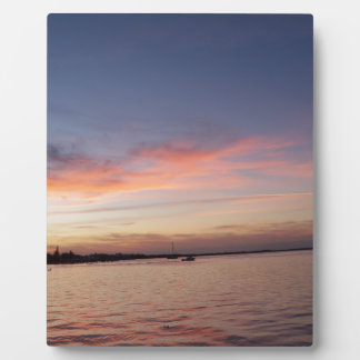 Sunset over Florida Bay, Key Largo FL Plaque