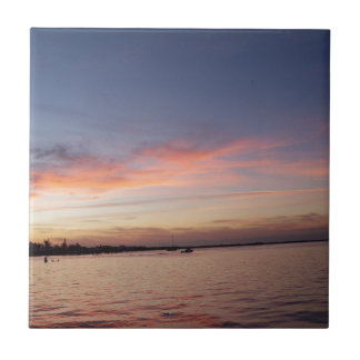 Sunset over Florida Bay, Key Largo FL Tile