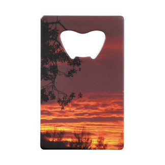 Sunset Over Gold Country Credit Card Bottle Opener