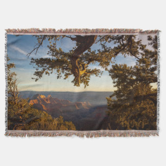 Sunset over Grand Canyon Throw Blanket