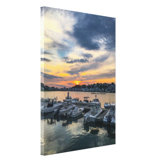 Sunset over Hull Harbor Canvas Print