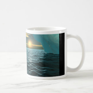 Sunset Over Ice Coffee Mug