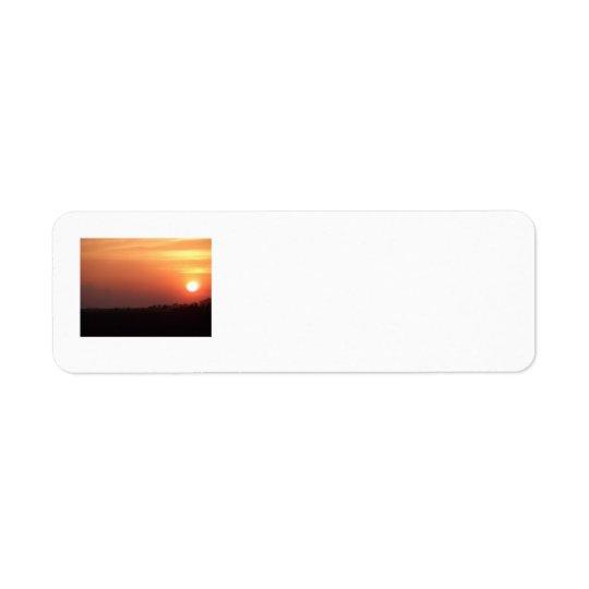 Sunset over Iowa fields Return Address Label