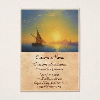 Sunset over Ischia Ivan Aivazovsky seascape waters