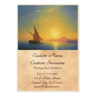 Sunset over Ischia Ivan Aivazovsky seascape waters Pack Of Chubby Business Cards