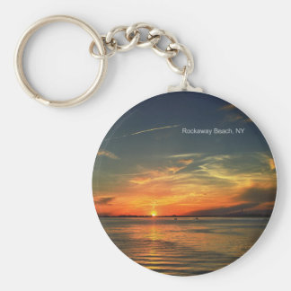 Sunset Over Jamaica Bay in Rockaway Keychain