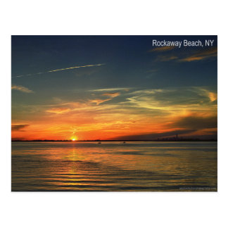 Sunset Over Jamaica Bay in Rockaway Postcard