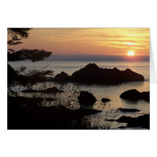 sunset over Juan De Fuca Card